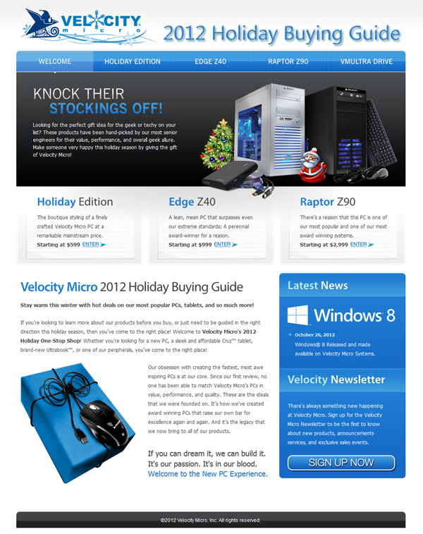 VM Holiday Microsite